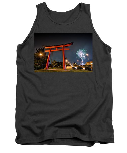 Tank Top featuring the photograph Asian Fireworks by John Swartz