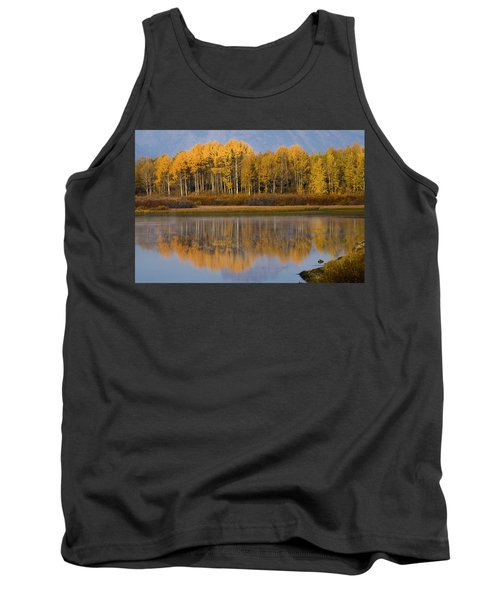 Tank Top featuring the photograph Aspen Reflection by Sonya Lang