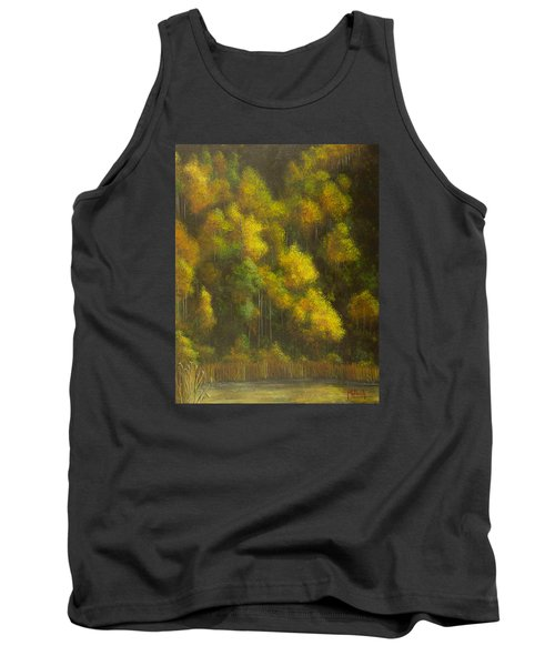 Aspens And Cattails Tank Top by Jack Malloch