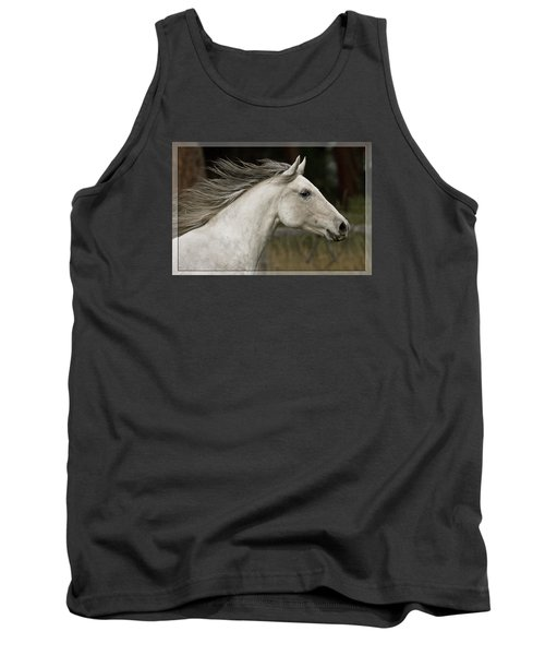 Tank Top featuring the photograph At A Full Gallop D7796 by Wes and Dotty Weber