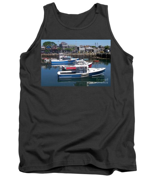 Tank Top featuring the photograph Colorful Boats by Eunice Miller