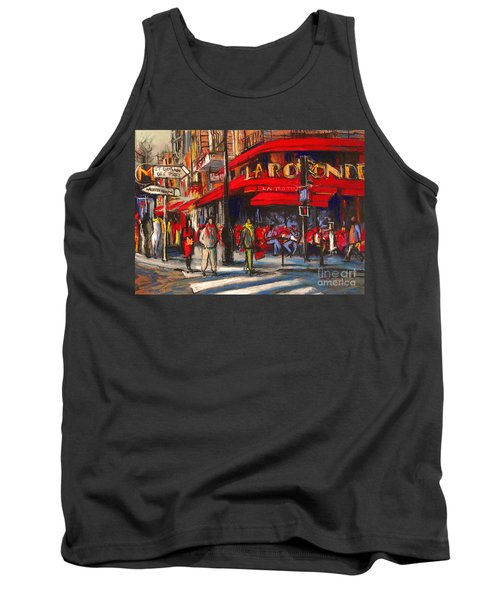 At The Cafe De La Rotonde Paris Tank Top