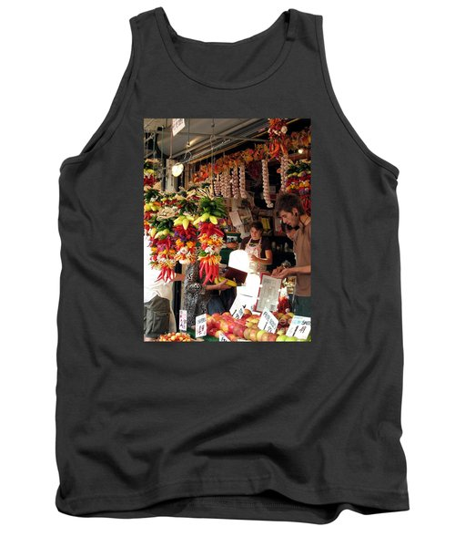 Tank Top featuring the photograph At The Market by Chris Anderson