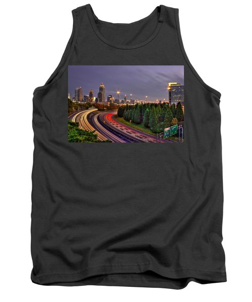 Atlanta Sundown Night Lights Art Tank Top