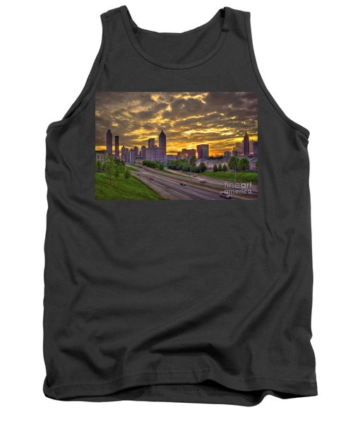 Atlanta Sunset Skyline Tank Top