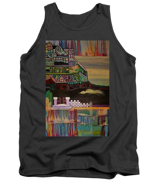 Tank Top featuring the painting Atlantis by Barbara St Jean
