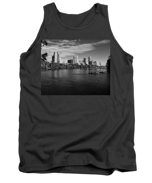 Austin Skyline Bw Tank Top by Judy Vincent