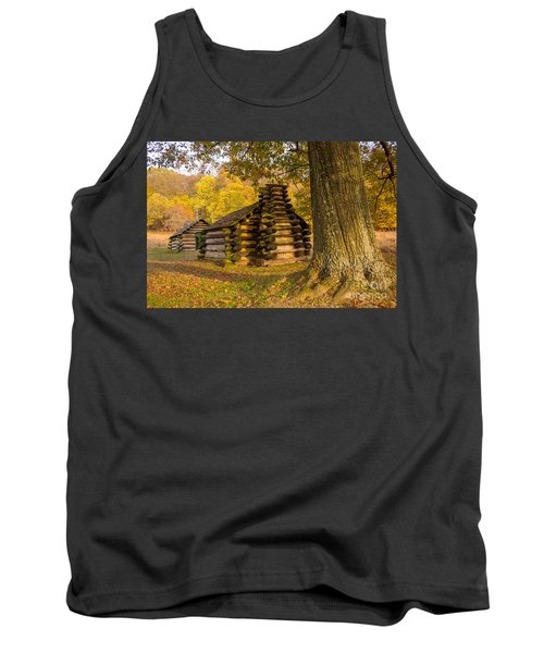 Autumn And The Huts At Valley Forge Tank Top