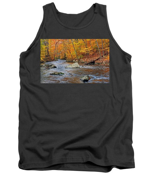 Autumn At The Black River Tank Top