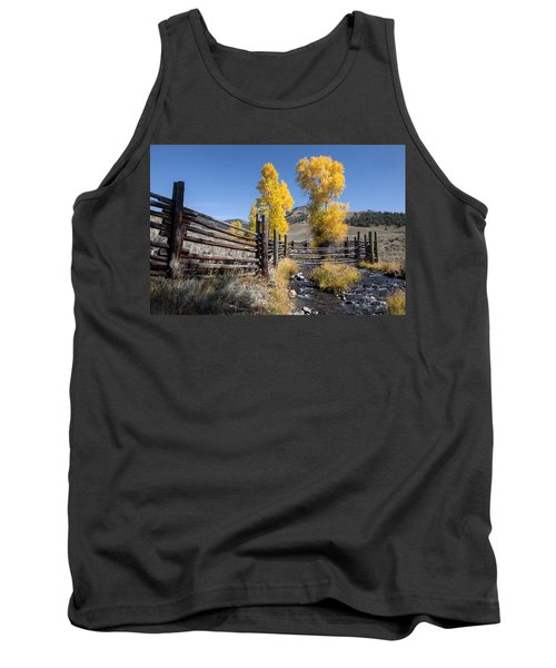Tank Top featuring the photograph Autumn At The Lamar Buffalo Ranch by Jack Bell