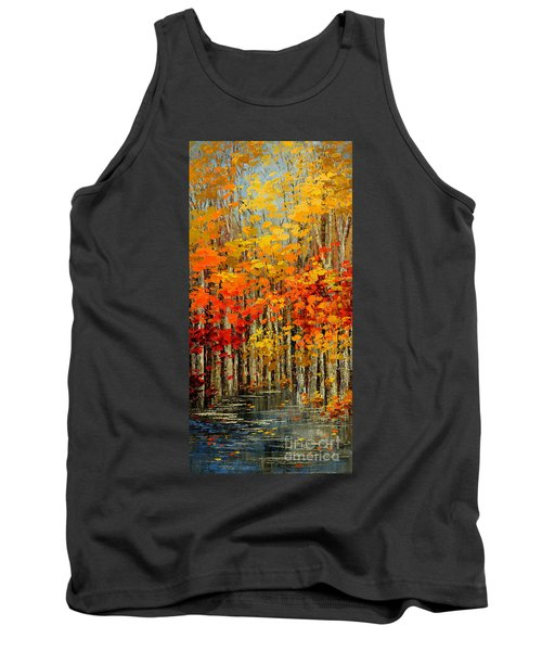 Tank Top featuring the painting Autumn Banners by Tatiana Iliina