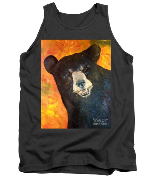 Tank Top featuring the painting Autumn Bear by Jan Dappen