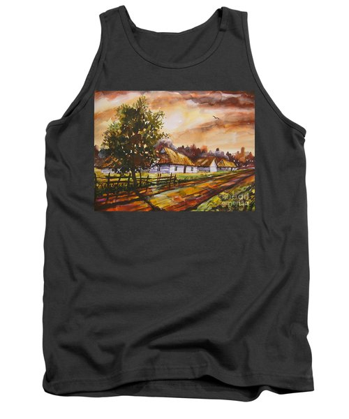 Autumn Cottages Tank Top