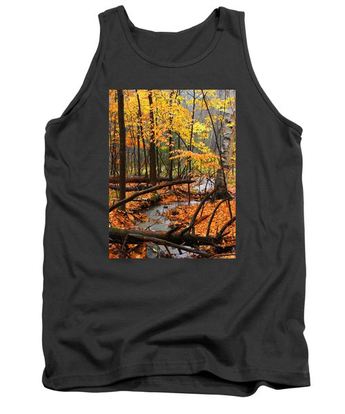 Tank Top featuring the photograph Autumn Creek In The Rain by Rodney Lee Williams