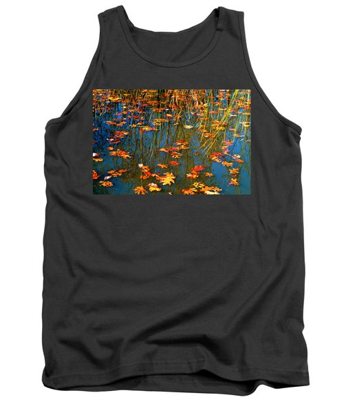 Tank Top featuring the photograph Autumn  Floating by Peggy Franz