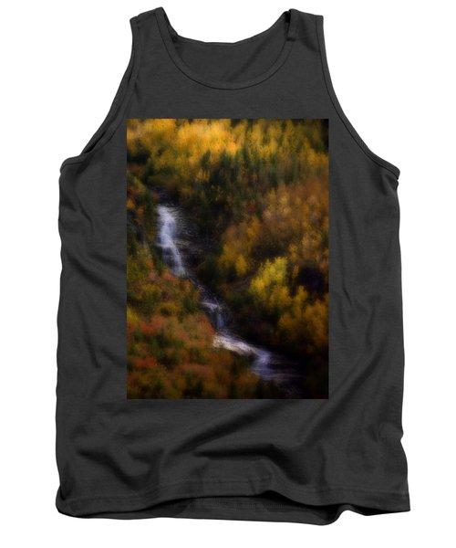 Tank Top featuring the photograph Autumn Forest Falls by Ellen Heaverlo