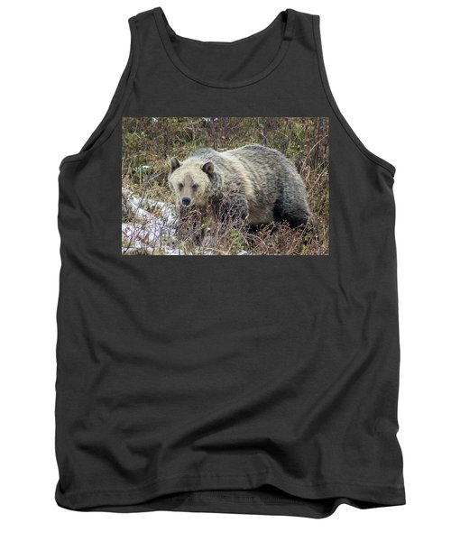 Tank Top featuring the photograph Autumn Grizzly by Jack Bell