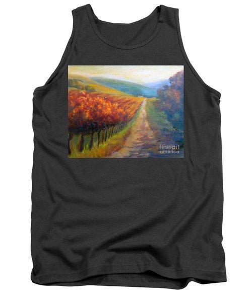 Autumn In The Vineyard Tank Top