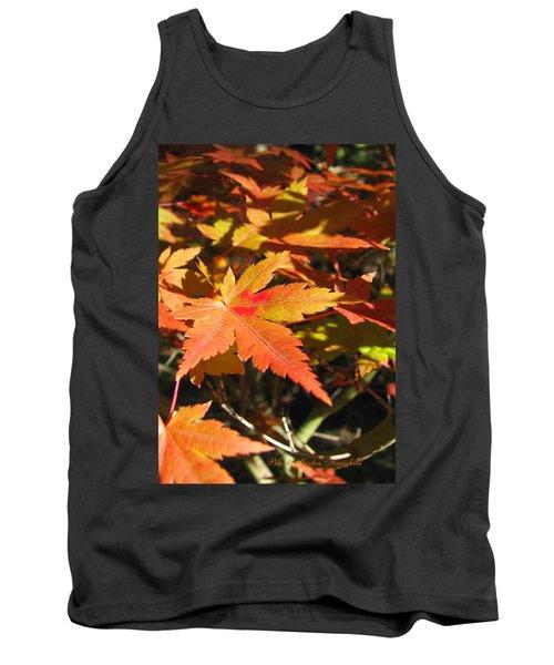 Autumn Leaves 9 - Autumn Leaves Macro Tank Top