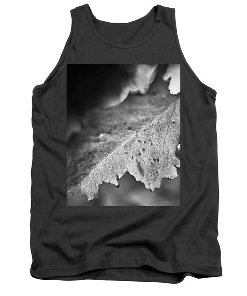 Autumn Leaves B And W Tank Top