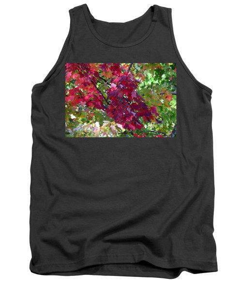 Autumn Leaves Reflections Tank Top
