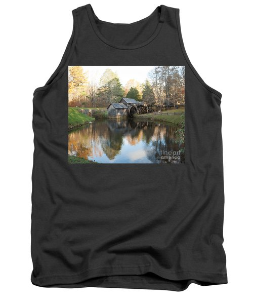 Autumn Morning At Mabry Mill Tank Top