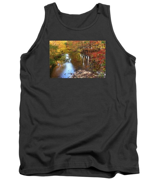 Autumn Reflection Tank Top by Dora Sofia Caputo Photographic Art and Design