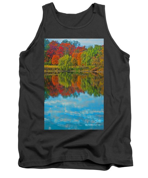 Autumn Reflection Tank Top by Todd Breitling