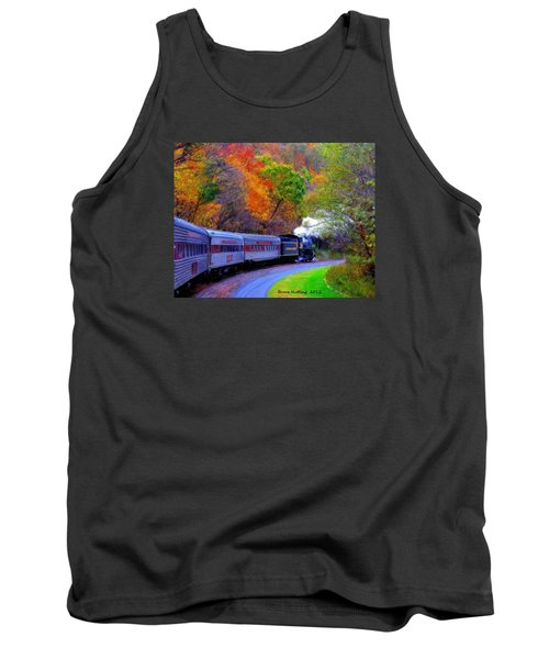 Tank Top featuring the painting Autumn Train by Bruce Nutting