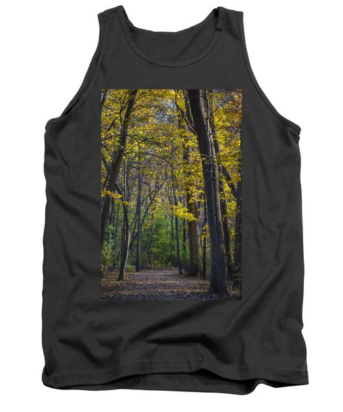 Tank Top featuring the photograph Autumn Trees Alley by Sebastian Musial