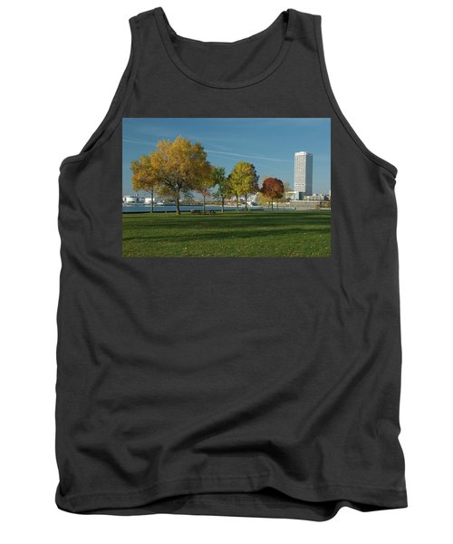 Tank Top featuring the photograph Autumn Trees by Jonah  Anderson