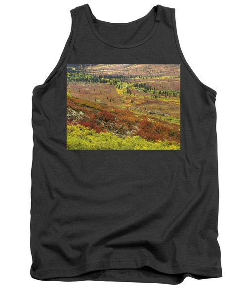 Autumn Tundra With Boreal Forest Tank Top
