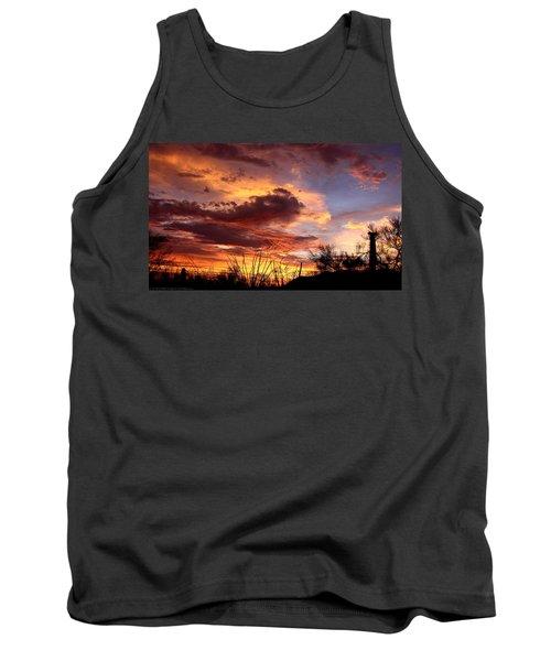Az Monsoon Sunset Tank Top by Elaine Malott