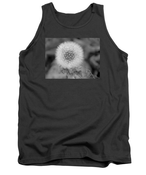 B And W Seed Head Tank Top by David T Wilkinson