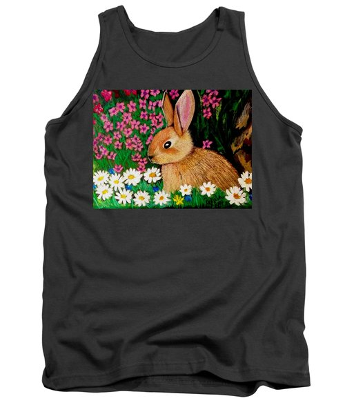 Baby Bunny In The Garden At Night Tank Top