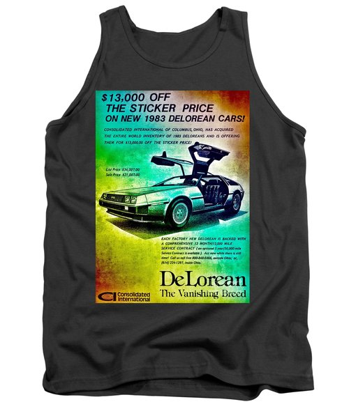 Back To The Delorean Tank Top