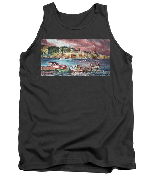Bailey Island Cribstone Bridge Tank Top by Joy Nichols