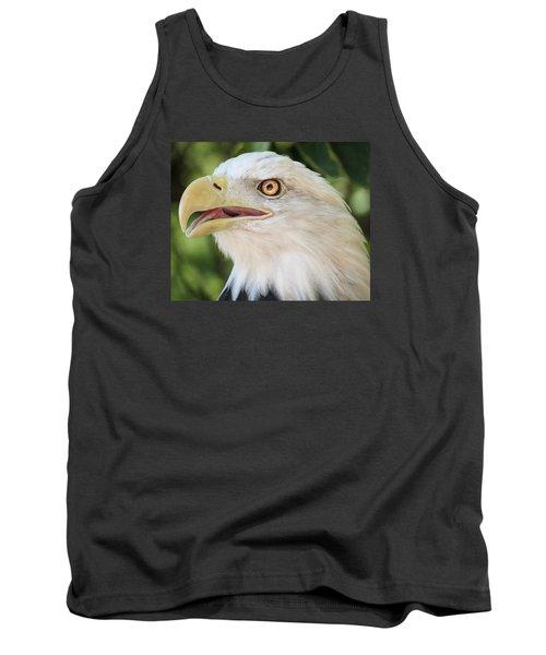 American Bald Eagle Portrait - Bright Eye Tank Top by Patti Deters