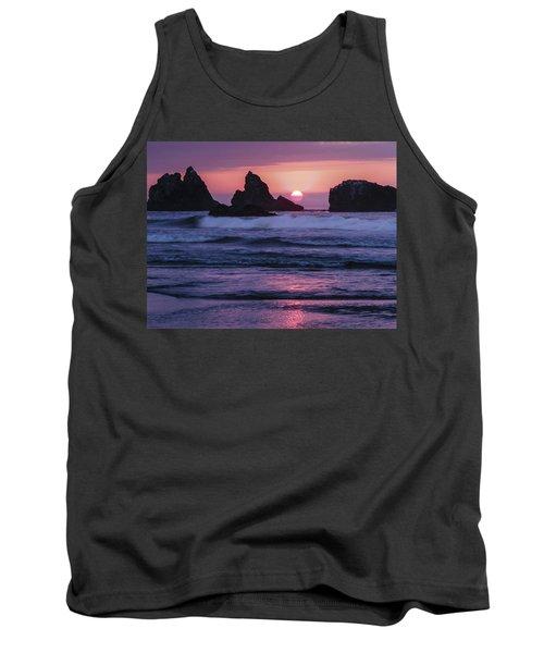 Bandon Beach Sunset Tank Top by Jean Noren