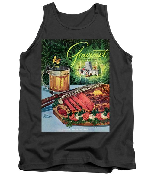 Barbeque Meat And A Mug Of Beer Tank Top