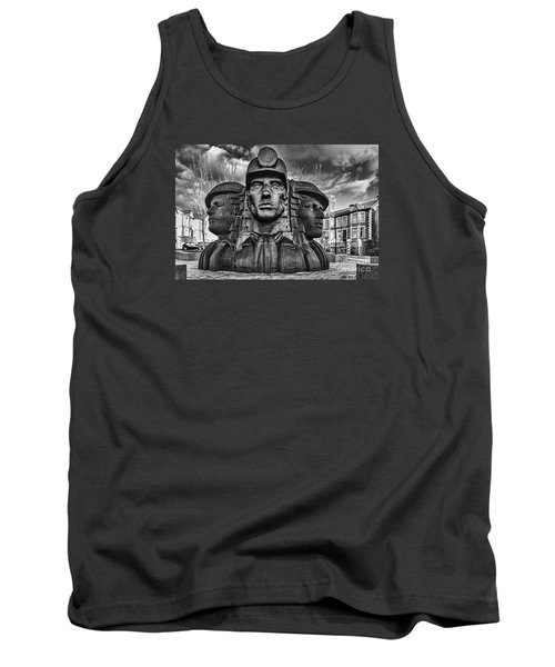 Bargoed Miners 2 Mono Tank Top by Steve Purnell
