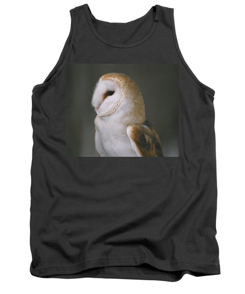 Tank Top featuring the photograph Barn Owl by David Porteus