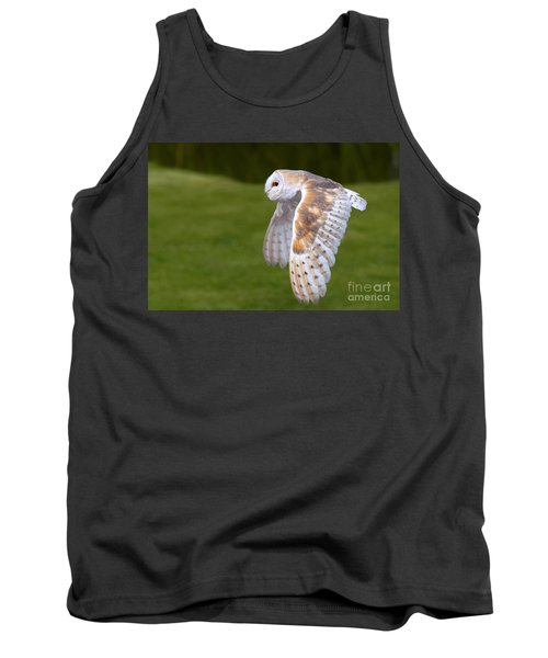 Tank Top featuring the photograph Barn Owl In Flight by Nick  Biemans