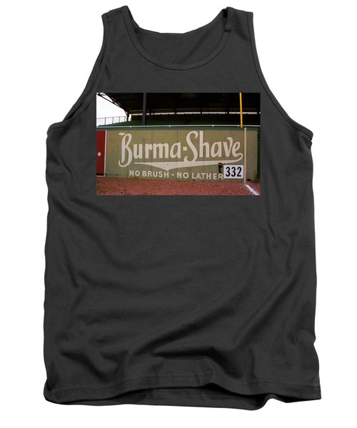 Baseball Field Burma Shave Sign Tank Top