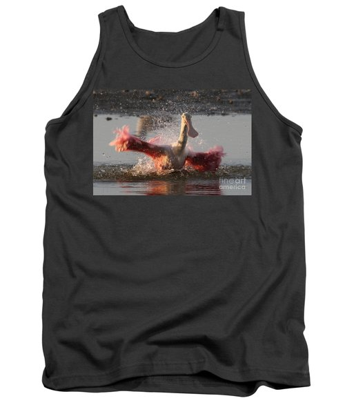 Bath Time - Roseate Spoonbill Tank Top