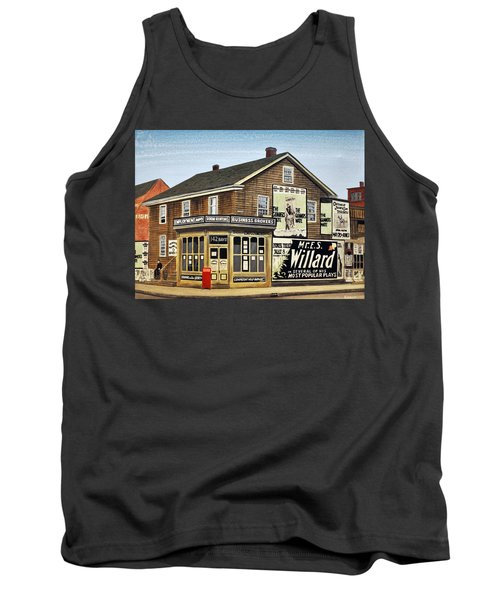 Tank Top featuring the painting Bay And Adelaide Streets 1910 by Kenneth M  Kirsch