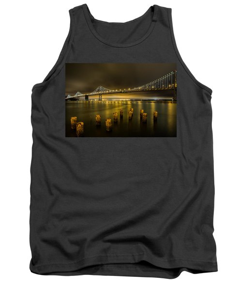 Bay Bridge And Clouds At Night Tank Top