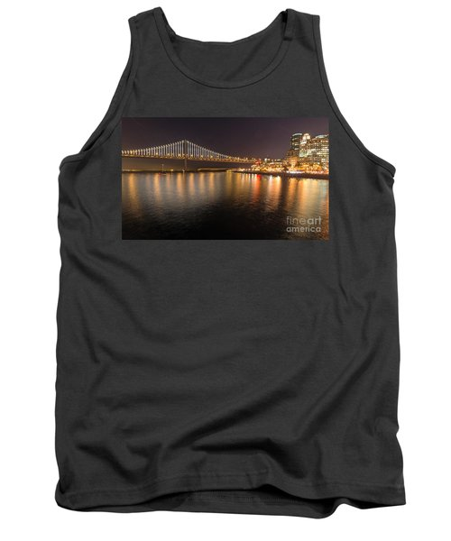 Bay Bridge Lights And City Tank Top