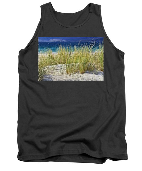 Tank Top featuring the photograph Beach Gras by Juergen Klust