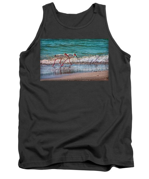 Beach Jogging In Twos Tank Top by Hanny Heim